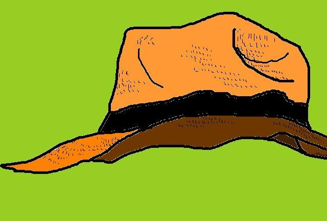 麦わら帽子の絵