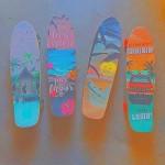 スケートボード 4つ カリフォルニアのイメージ